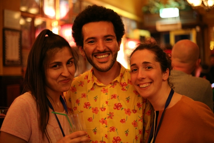 Maryam, Jaouad and Pernelle, photo by Geraldine Heaney